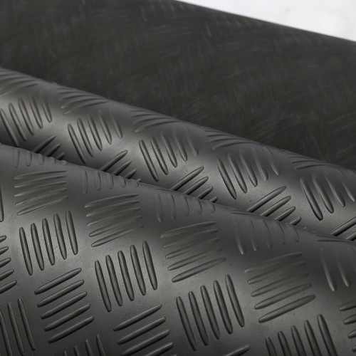 3mm to 8mm Thickness Diamond Willow Leaf Ribbed Checker Plate Rubber sheet Flooring Mat Rubber Rolls