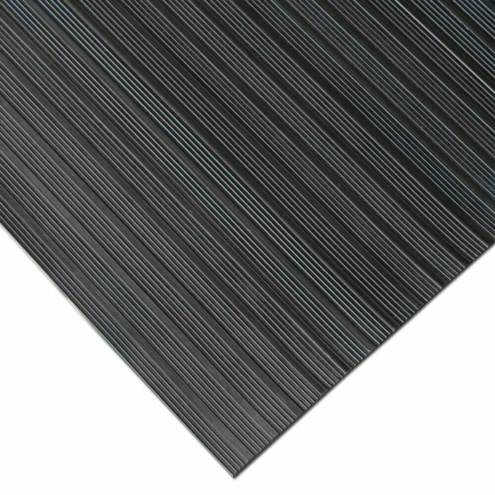 Wholesale non-slip checker plate rubber mating sheets for flooring wide ribbed rubber sheet