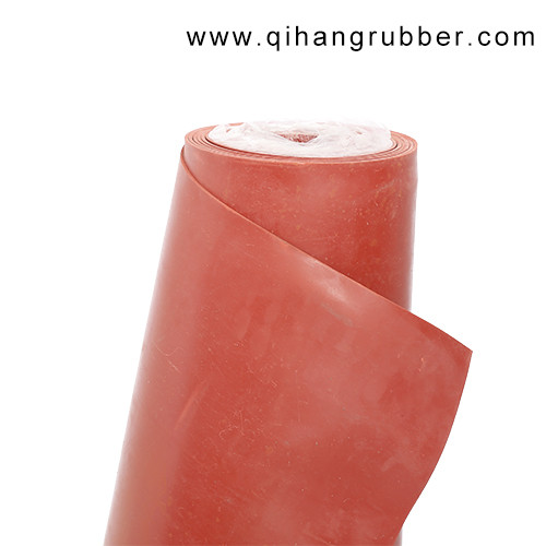 Anti-aging thin colored red smooth surface rubber sheet