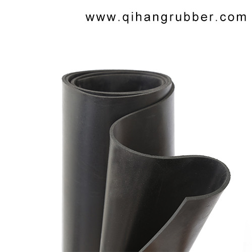 Anti-aging thin colored black smooth surface rubber sheet