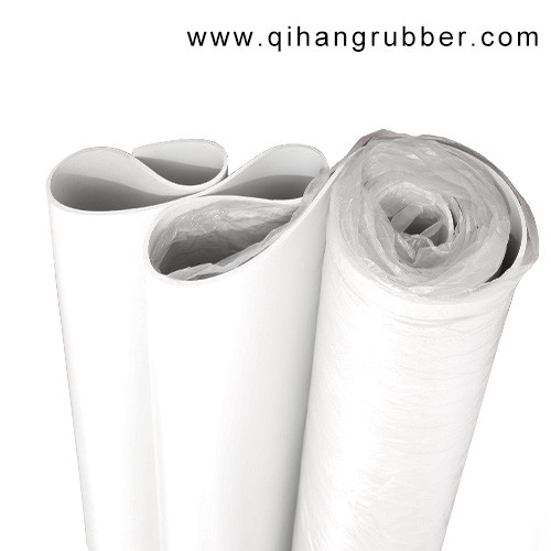 Anti-aging thin colored white  smooth surface rubber sheet