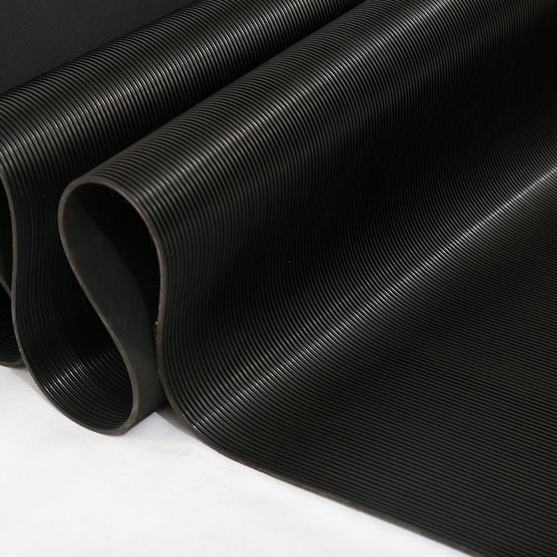 Waterproof Black Rubber Roll Anti-slip Fine ribbed rubber sheet