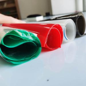 شفافية سوداء خضراء حمراء رقيقة لون ورقة فيلم السيليكون
