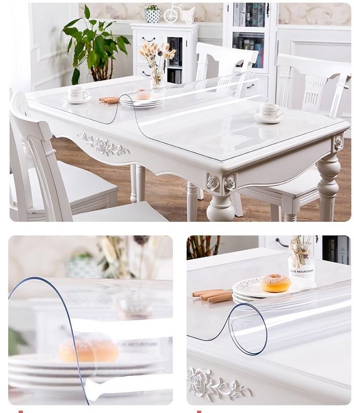 5mm weicher transparenter PVC-Plactic-Film für Tischdecken- / Tischdeckenanwendung