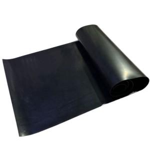 35-40 شور ورقة المطاط الطبيعي الأسود مرونة عالية 1.5 مم للصناعة
