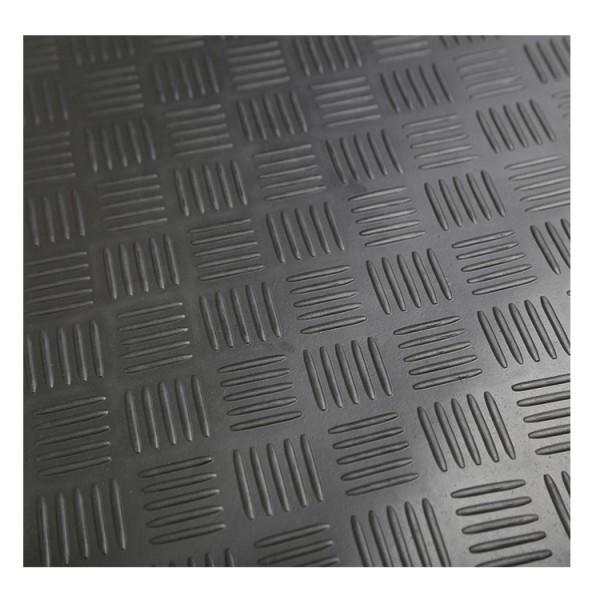 3 mm à 8 mm d'épaisseur diamant feuille de saule plaque de damier nervurée feuille de caoutchouc tapis de sol rouleaux de caoutchouc