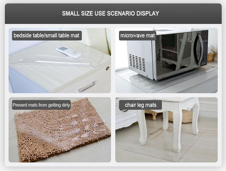 Waterproof crystal plate clear soft glass PVC transparent table cloth