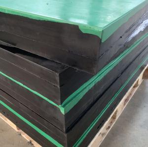 Solid heavy duty large rubber blocks sheet for shock absorption