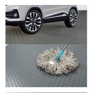 Exportieren Sie wasserdichte schwarz graue Anti-Rutsch-Münz-Vinyl-Garagen-Fußmatten auf Lager