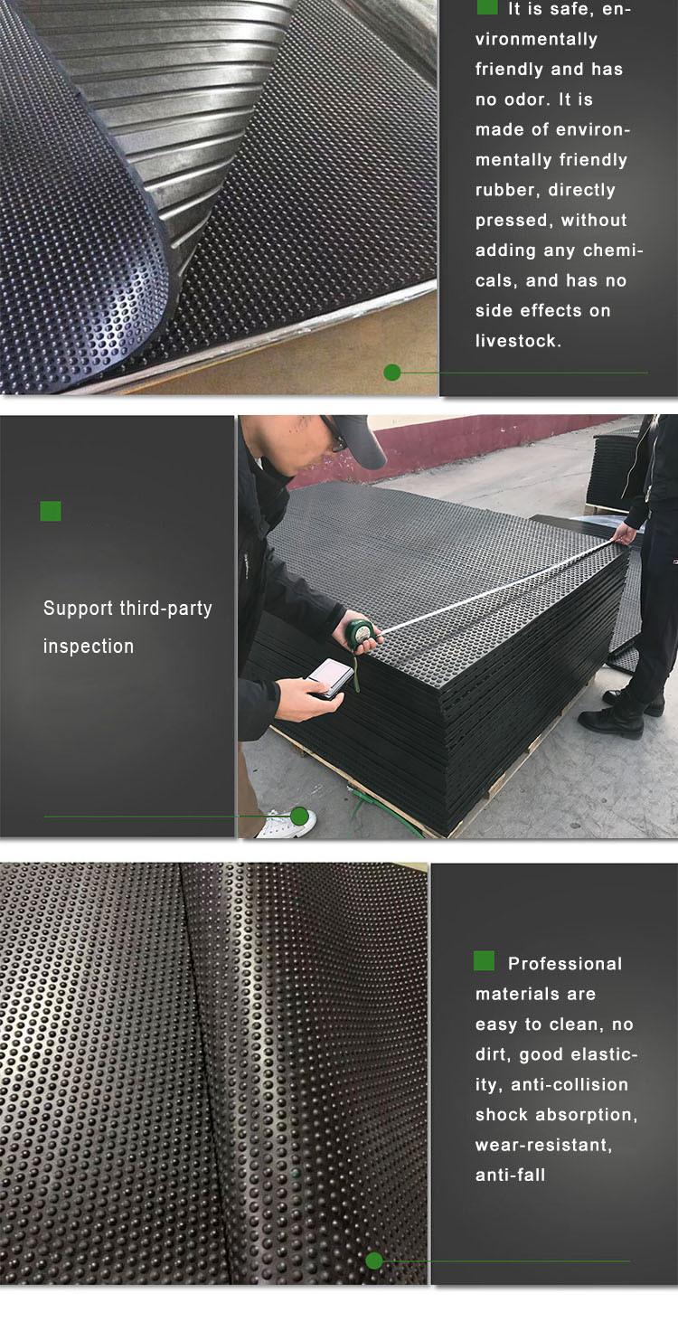 Easy to Clean Anti Slip Cow Mats Insulation Cow Mattress Horse Stall mat