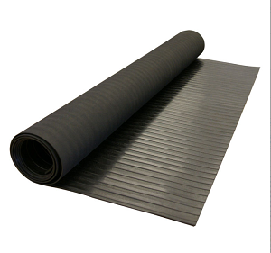 Easy Clean Slip-Resistant Corrugated Wide Rib Rubber Runner Floor Mats