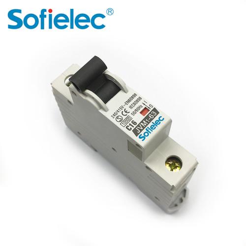 4.5kA JVM1-63 mcb circuit breaker