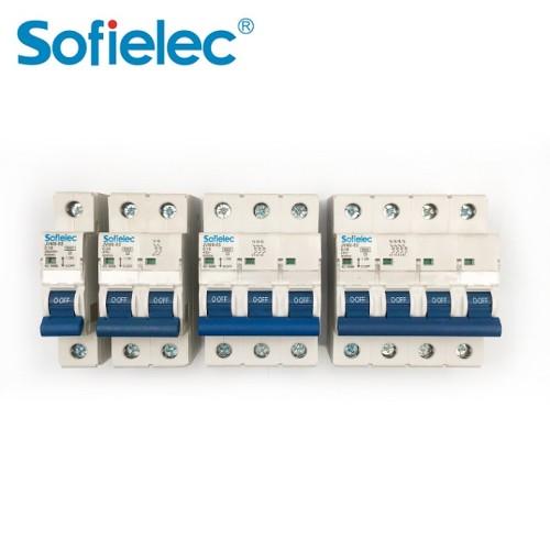 6kA JVM9-63 CE 63A 4p MCB IEC60898 miniature circuit breaker