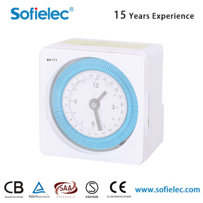 AH711 220V-240V 50Hz Mechanical Programmable Analogue Time switch
