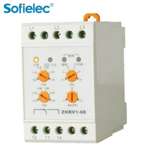 ZHRV1-08 Sofielec under over voltage control,cnc phase sequence module device relay