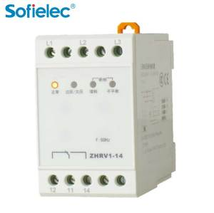 ZHRV1-14 Sofielec under over voltage control,cnc phase sequence module device relay