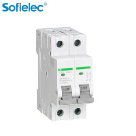 PV installations DC supplementary earth protection MCB circuit breaker with CE CB TUV certificate