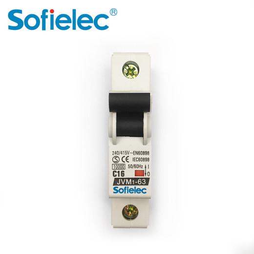 Sofielec 6-10kA MCB JVM1-63 4P 6-63A, IEC CB CE and RoHS certificate