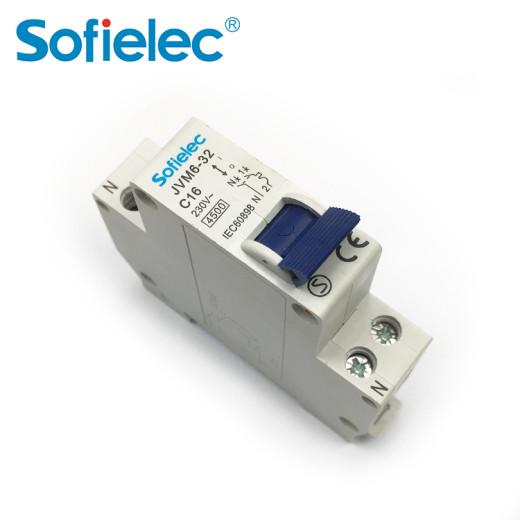 Sofielec French single module 1P+N MCB 1P size 4.5kA 32Amp JVM6-32, SEMKO CE CB approval