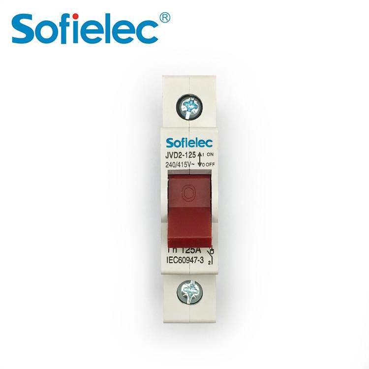 Sofielec Economic Main Switch 1p 2p 3p 4p Isolator Rated