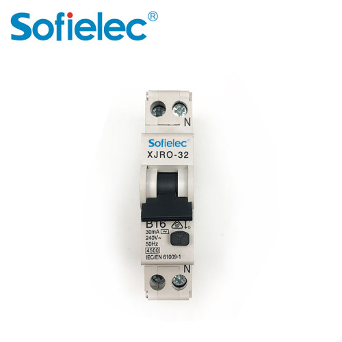 ESV compliance Economic 4.5kA miniature RCBO dual connection up down both way for IN,OUT connection
