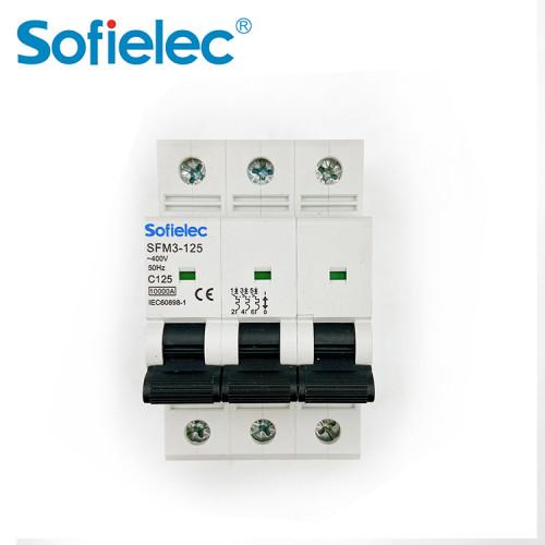 6kA SFM3-125 best quantity D16 types of miniature circuit breaker