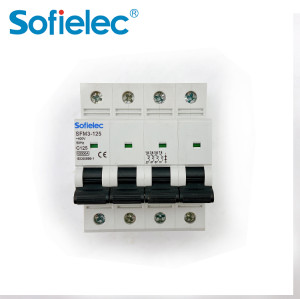 6kA SFM3-125 best quantity D16 types of miniature circuit breaker