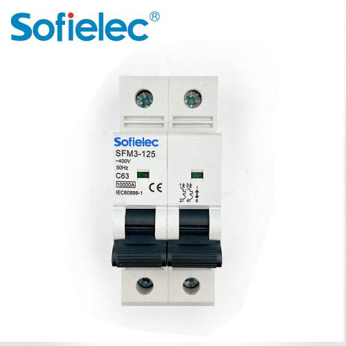 6kA SFM3-125 63A best quantity D16 types of miniature circuit breaker
