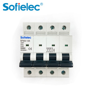 6kA SFM3-125 63A best quantity D16 types of miniature circuit breaker