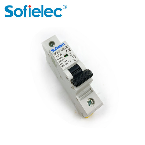6kA SFM3-125 DC 125A best quantity D16 types of miniature circuit breaker
