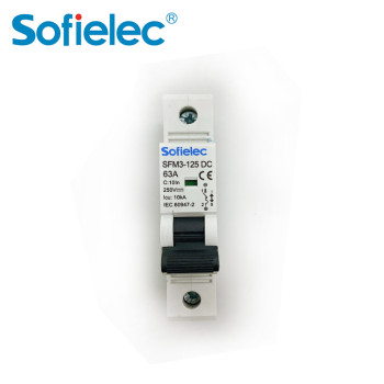 6kA SFM3-125 DC 63A best quantity D16 types of miniature circuit breaker