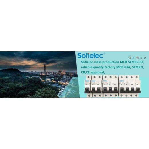 Sofielec mass production MCB SFM65-63, reliable quality factory MCB 63A, SEMKO,CB,CE approval