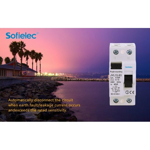 Automatically disconnect the circuit when earth fault/leakage current occurs andexceeds the rated sensitivity.