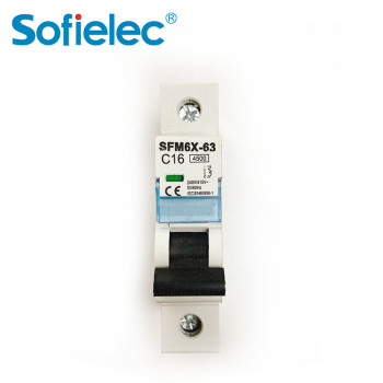 1P 2P 3P 4P 16 amp mini  disjoncteur tableau electrique CE CB 4.5KA mcb