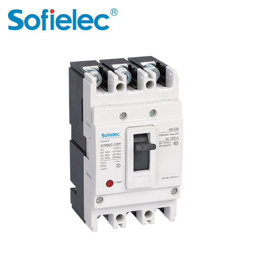 STM6DC series moulded-case DC circuit breaker  800A Residual Current Operated mccb 3P 4P Circuit Breakers RCCB