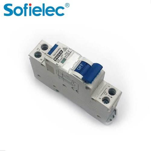 A or AC type  Mini 1P rcbo  6KA  SFRO16-32 CB approved compact MCB/RCD residual circuit breaker
