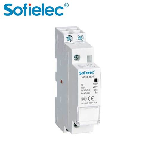 Sofielec KCH8 series modular 1 2 3 4 poles 16-63A contactor