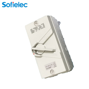 change over switch 20A isolator switch with protective box