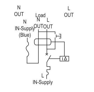 single module RCBO 10kA, 1P+N, 6-32Amp. 1P RCBO JVL16-32