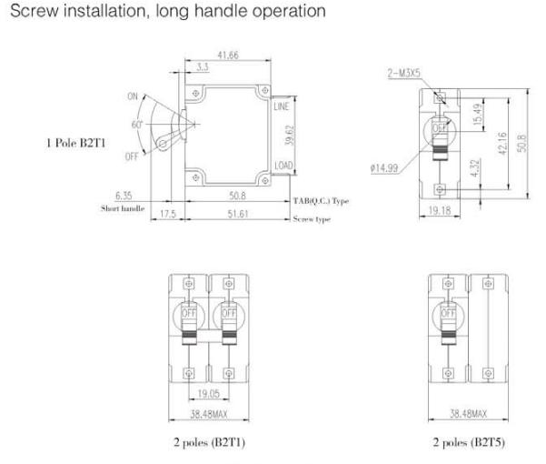 B2 series Electromagnetic Mini Circuit Breaker,Hydraulic