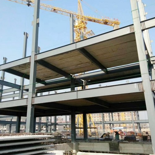 Multi-layer Galvanized Prefabricated  Steel Structure Framed Office Building