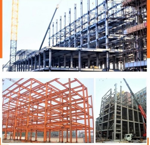 High Rise Prefabricated Steel Structure For Office Building With Warehouse