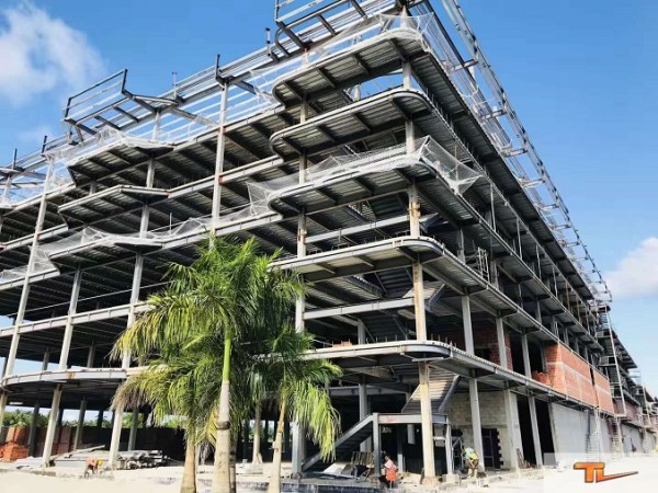Steel structure building for Philippines hotel