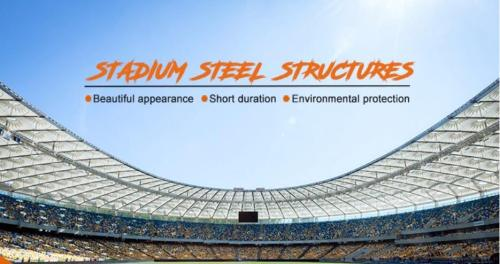 Prefab Steel Structure  For  Large-span Space Stadium  Hall