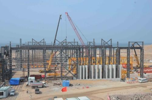 Ghana Pre-Fabricated Steel Structure warehouse Workshop
