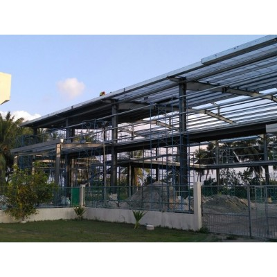 Indonesia Double Storey Steel Structure Workshop With Warehouse And Office