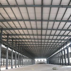 Large-span Prefab Warehouse Hall With Steel Structure Perfect Design