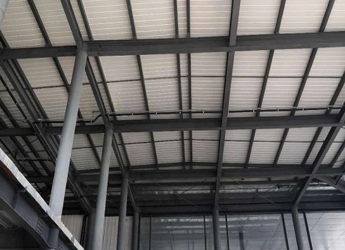 Long-span Prefabricated Steel Warehouse For Commercial Car Showroom With Perfect Design