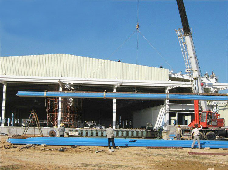 How many main steps of the steel structure warehouse workshop construction?