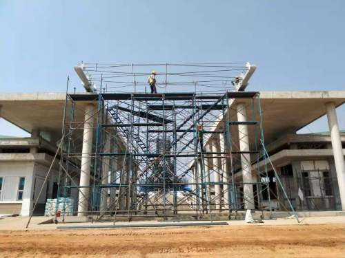 prefabricated steel structure frame for Thailand museum